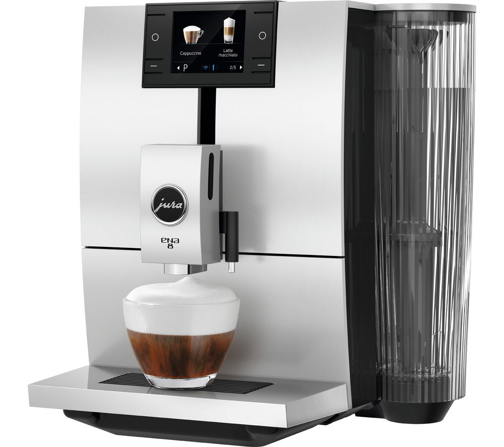 JURA ENA 8 Smart Bean to Cup Coffee Machine – Metropolitan Black, Black