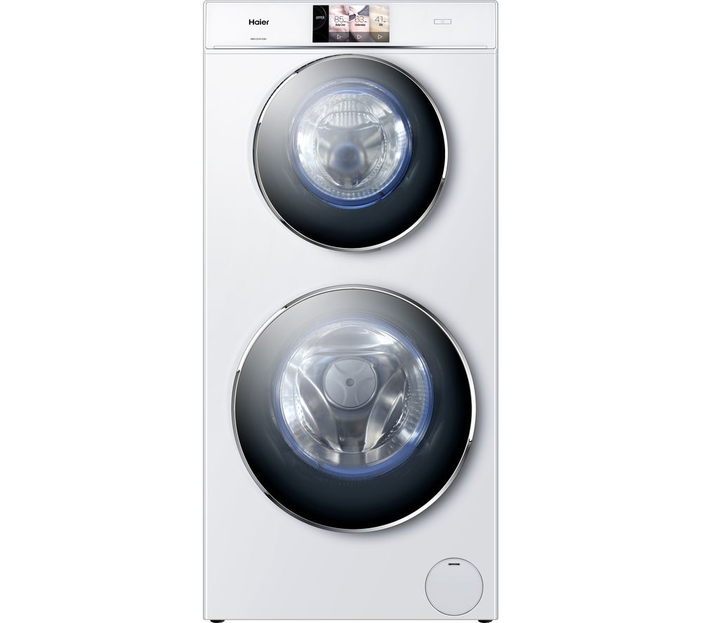 HAIER Duo HWD120-B1558U WiFi-enabled 12 kg Washer Dryer - White