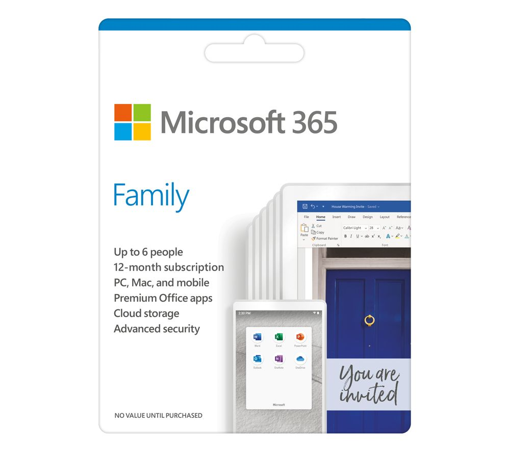 Image of MICROSOFT 365 Family - 1 year for 6 users