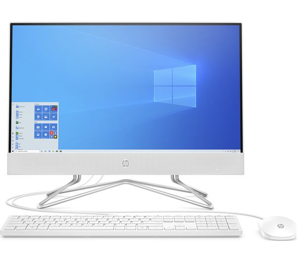 """Image of HP 22-df0021na 21.5"""" All-in-One PC - AMD Athlon Silver, 128 GB SSD, White"""
