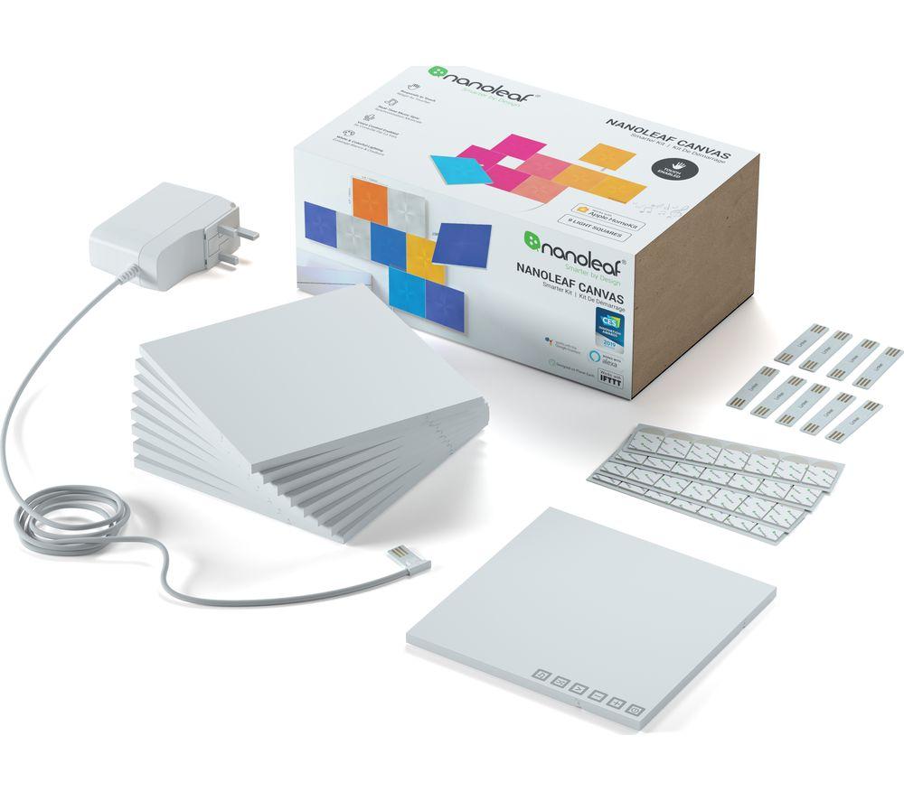 NANOLEAF Canvas Smarter Kit Smart Lights - Pack of 9