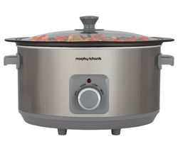 MORPHY RICHARDS Sear & Stew 461014 Slow Cooker - Stainless Steel Best Price, Cheapest Prices