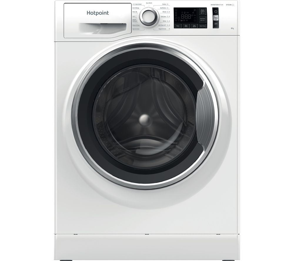 Image of HOTPOINT Activecare NM11 844 WC A UK N 8 kg 1400 Spin Washing Machine - White, White