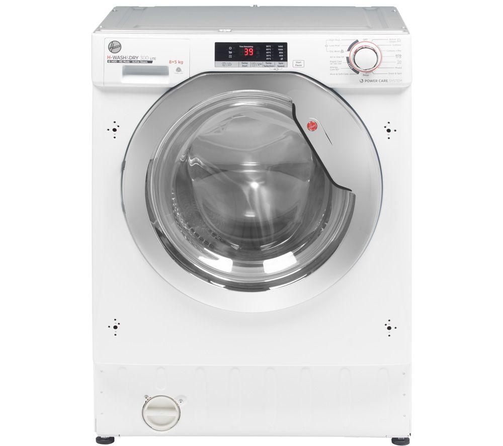 HOOVER H-WASH 300 Lite HBDS485D2ACE Integrated 8 kg Washer Dryer