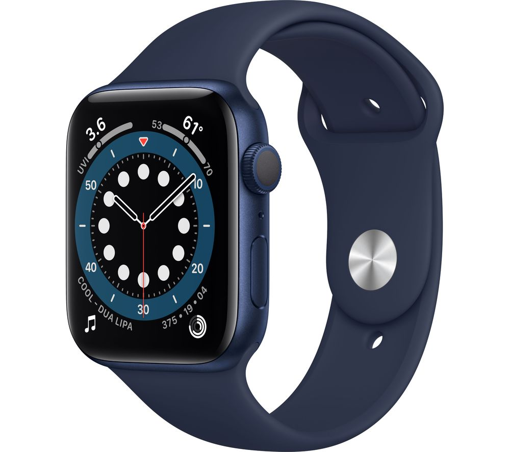APPLE Watch Series 6 - Blue Aluminium with Deep Navy Sports Band, 44 mm