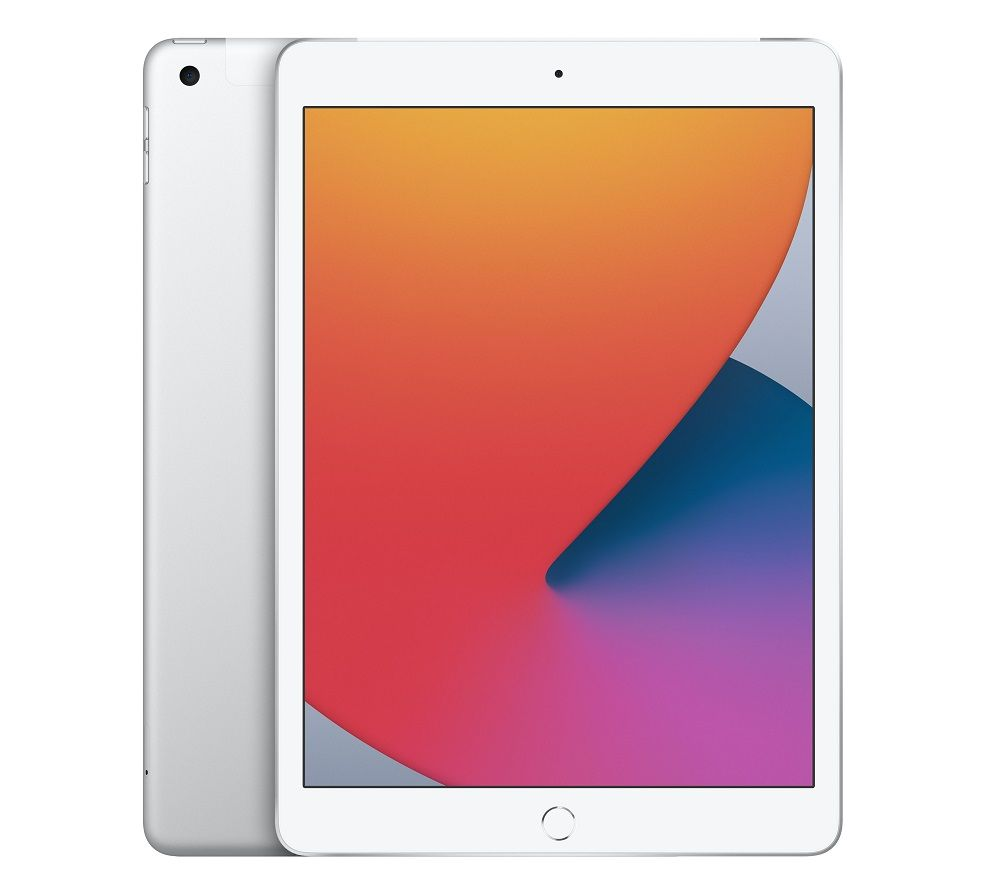 """Image of APPLE 10.2"""" iPad Cellular (2020) - 128 GB, Silver, Silver"""