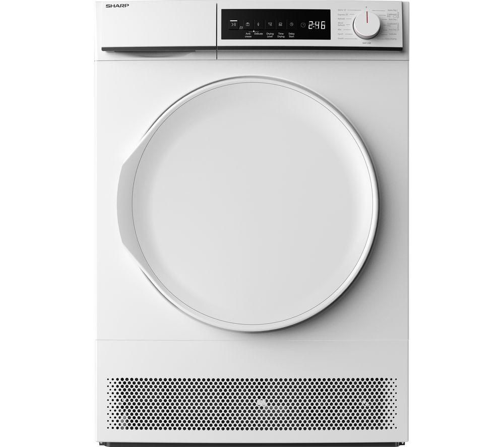 SHARP KD-NCB9S7PW9-EN 9 kg Condenser Tumble Dryer - White, White