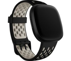 Sense & Versa 3 Sports Band - Black & White, Small