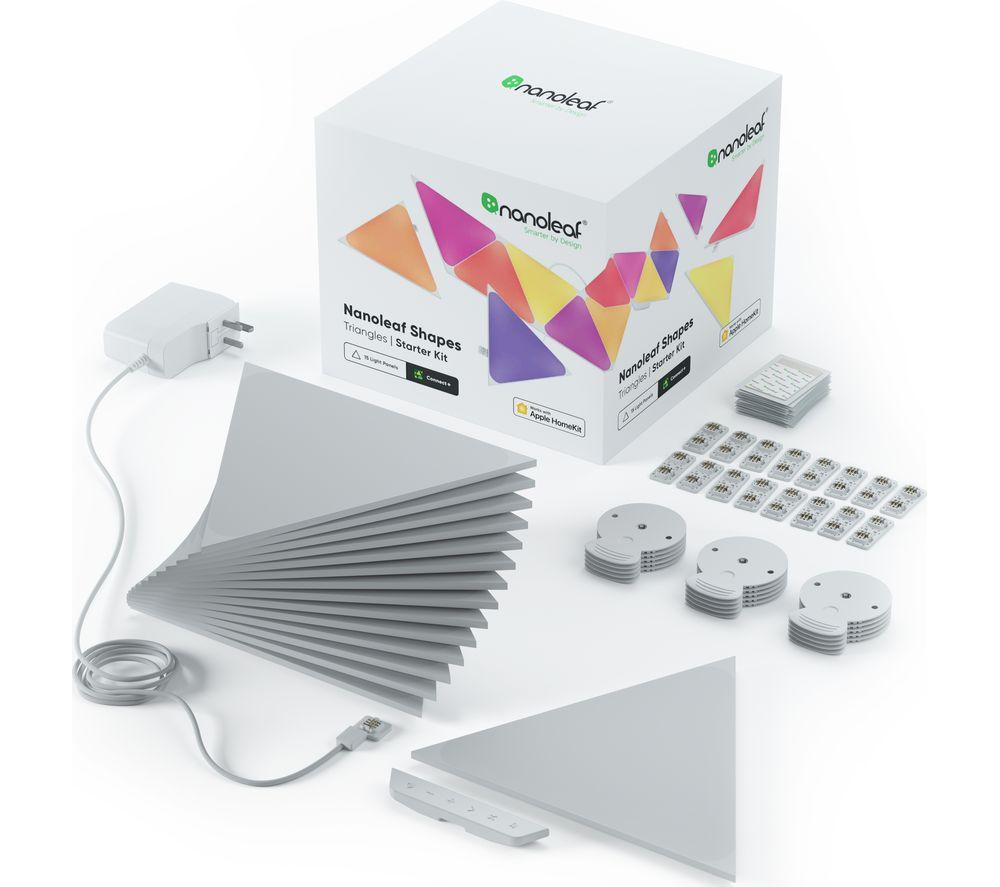 NANOLEAF Shapes Triangle Smart Lights Starter Kit - Pack of 15