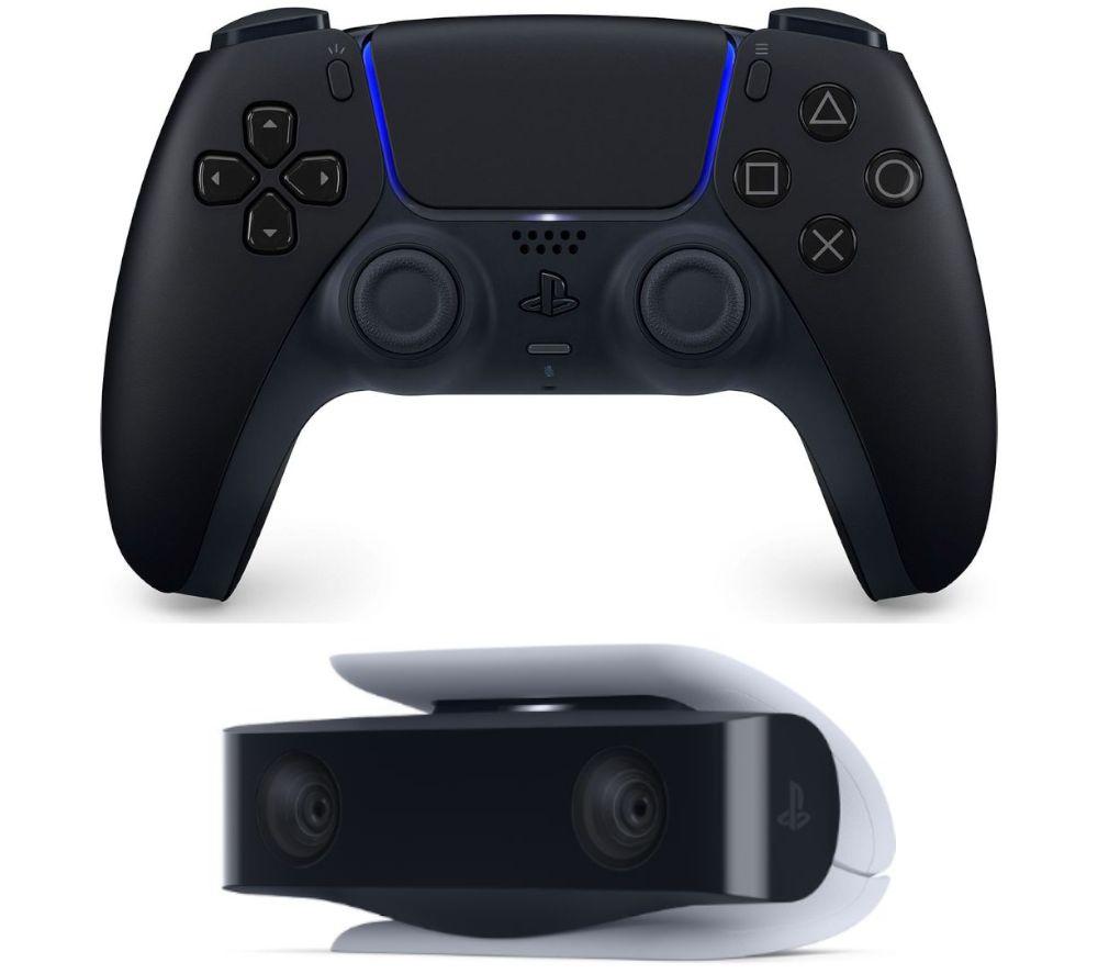 PLAYSTATION PS5 DualSense Controller & PS5 HD Camera Bundle - Midnight Black, Black
