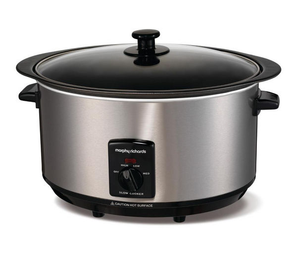 Image of MORPHY RICHARDS 48705 Sear and Stew Slow Cooker - Stainless Steel