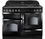 RANGEMASTER Classic 110 Dual Fuel Range Cooker - Black & Chrome
