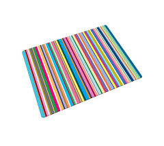 Glass Chopping Board - Thin Stripes