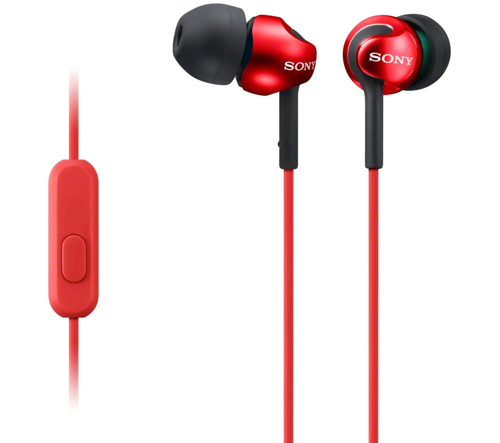 SONY MDR-EX110APR Headphones - Red
