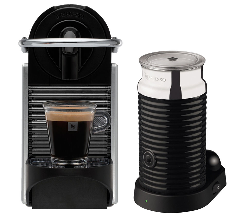 buy nespresso by magimix pixie 11323 coffee machine with aeroccino aluminium free delivery. Black Bedroom Furniture Sets. Home Design Ideas