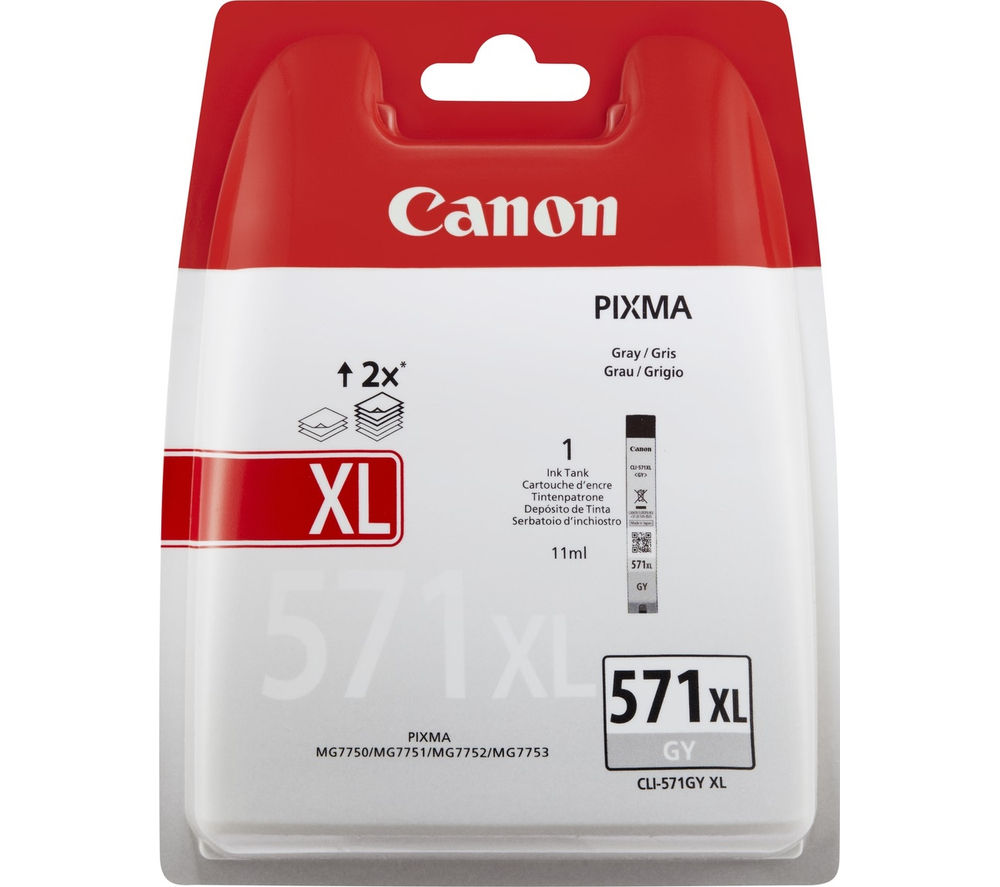 Compare retail prices of Canon CLI-571 XL Grey Ink Cartridge to get the best deal online