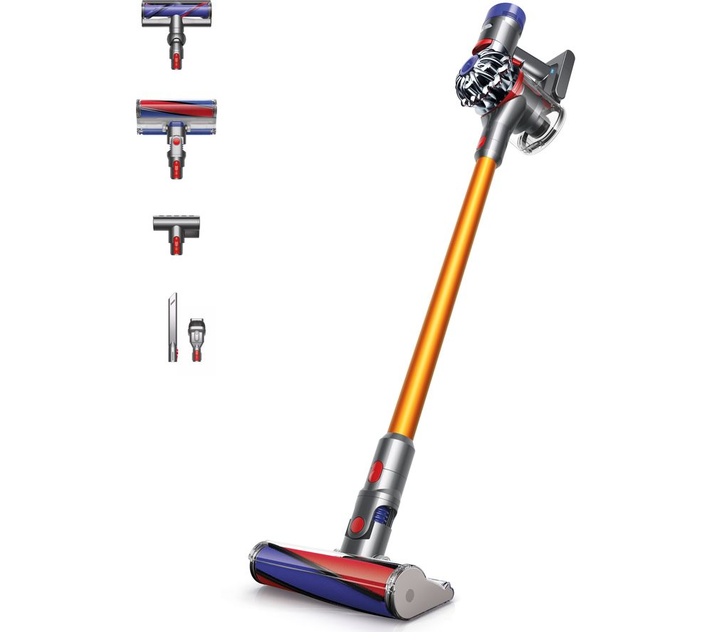 DYSON V8 Absolute Cordless Bagless Vacuum Cleaner - Nickel & Iron + Zorb Carpet Cleaner