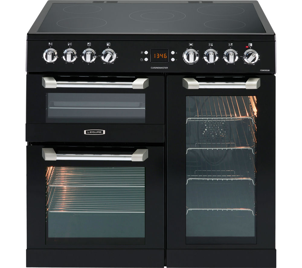 Image of LEISURE Cusinemaster CS90C530K Electric Ceramic Range Cooker - Black, Black