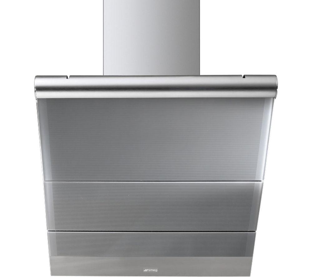 SMEG Linea KTS75CE Chimney Cooker Hood - Stainless Steel & Silver Glass