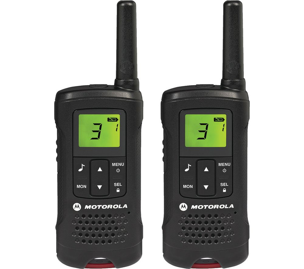 buy motorola tlker 61 walkie talkies black free delivery currys. Black Bedroom Furniture Sets. Home Design Ideas