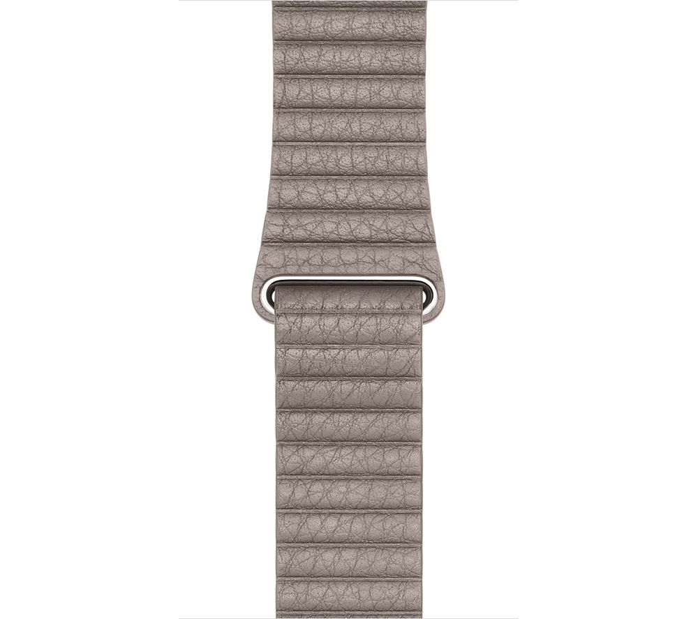 Image of APPLE Watch 42 mm Smoke Grey Leather Loop Band - Large, Grey