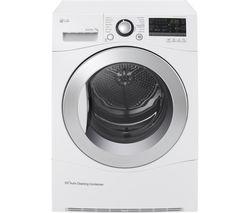 LG RC7055AH2M Condenser Tumble Dryer - White