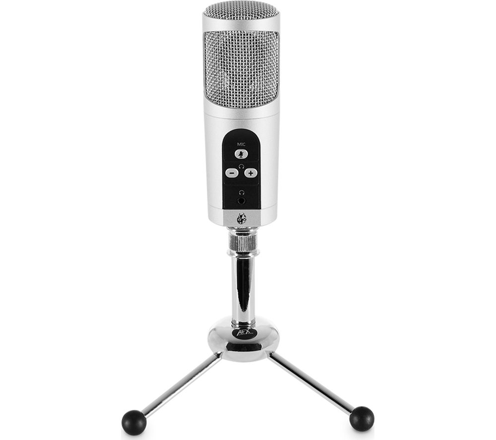 adx firestar mic01 professional usb microphone silver fast delivery currysie. Black Bedroom Furniture Sets. Home Design Ideas