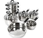 TOWER Essentials T80834 8-piece Pan Set - Stainless Steel