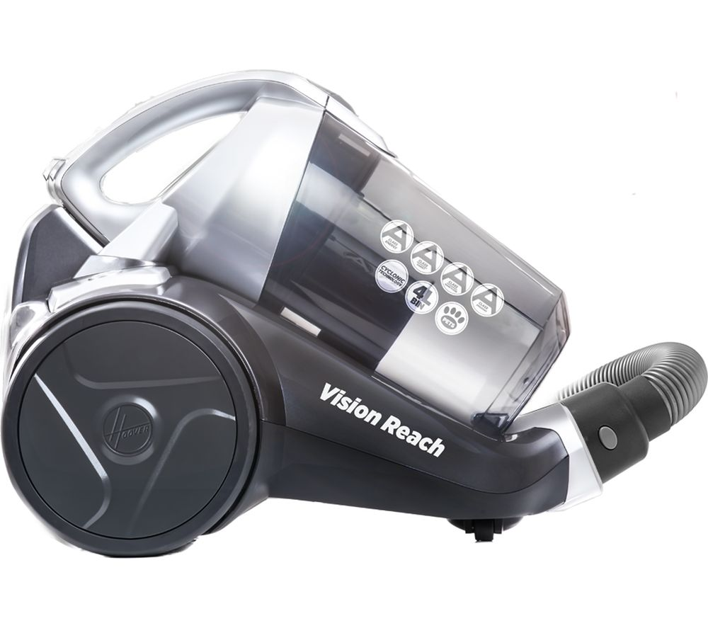 HOOVER Vision Reach Cylinder Bagless Vacuum Cleaner - Titanium