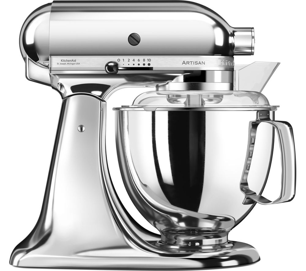 buy kitchenaid artisan 5ksm175psbcr stand mixer chrome free delivery currys. Black Bedroom Furniture Sets. Home Design Ideas