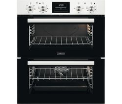 ZANUSSI ZOF35601WK Electric Built-under Double Oven - White Steel