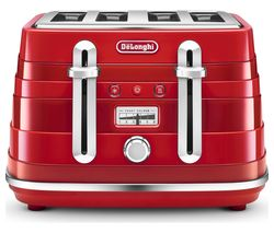 DELONGHI Avvolta CTA4003.R 4-Slice Toaster - Red