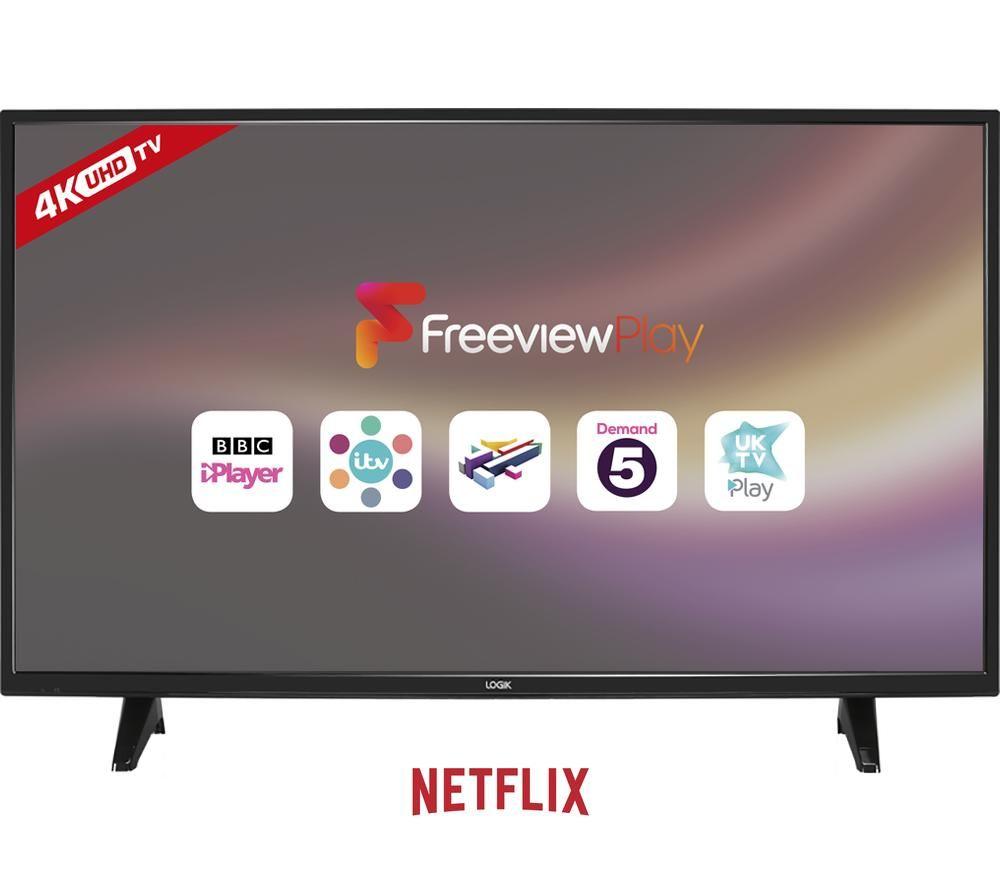 """Tv Led 4k Ultra Hd Smart Tv 43 Lg 43uk6470 What Is Hd Uhd 4k Hd Tv Ratings Hd Led 32 Inch Tv: Buy LOGIK L43UE17 43"""" Smart 4K Ultra HD LED TV"""