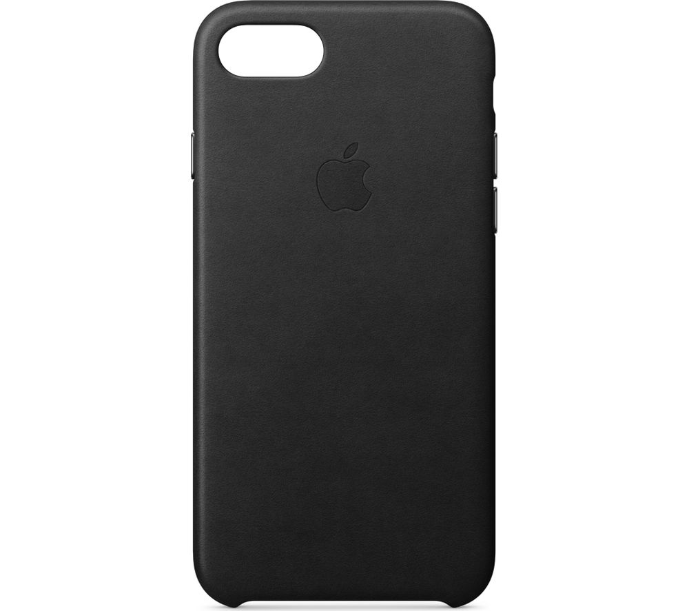 APPLE iPhone 8 & 7 Leather Case - Black, Black cheapest retail price