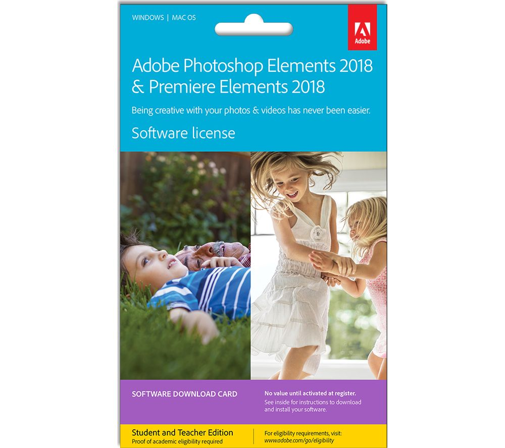 ADOBE Photoshop Elements 2018 & Premiere Elements 2018 Student & Teacher Edition