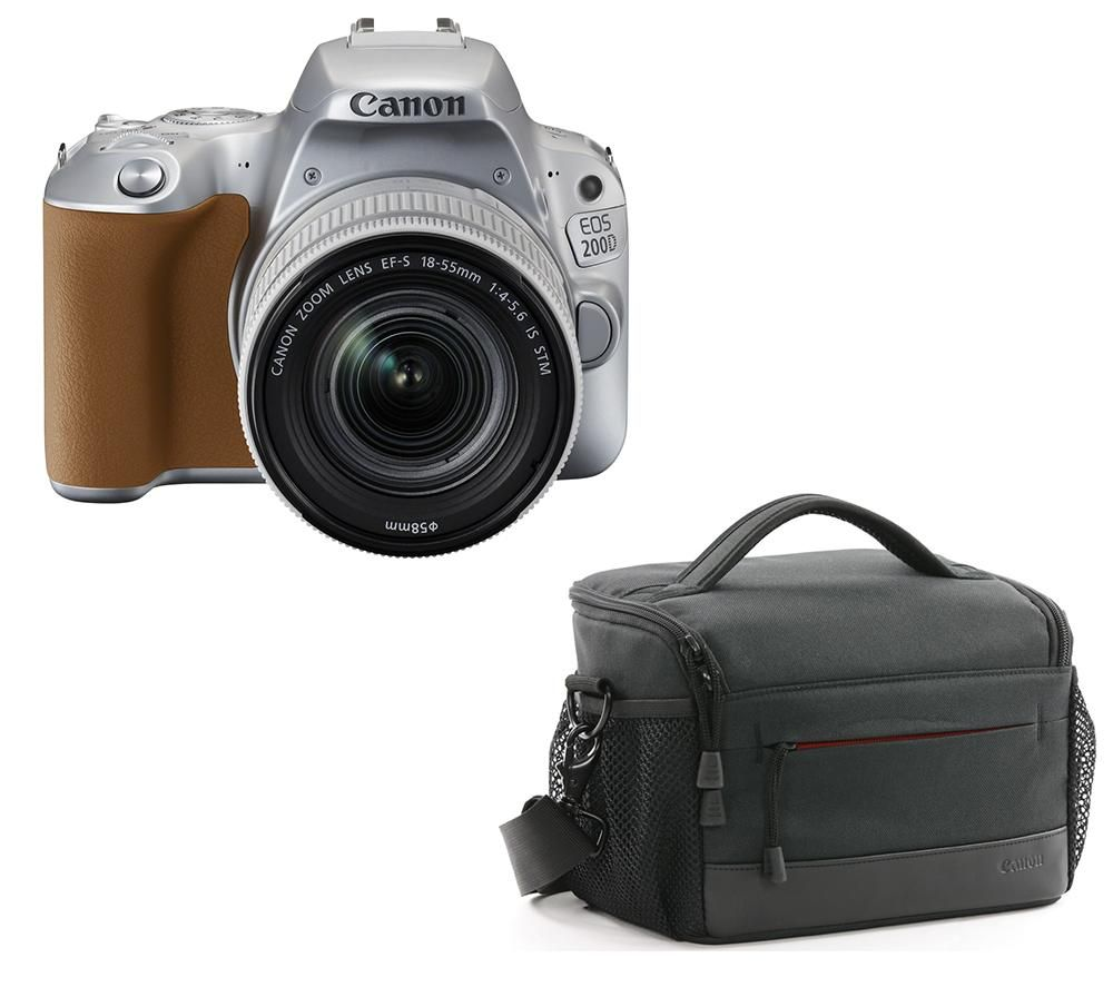 Image of CANON EOS 200D DSLR Camera, EF-S 18-55 mm f/4-5.6 DC Lens & Bag Bundle