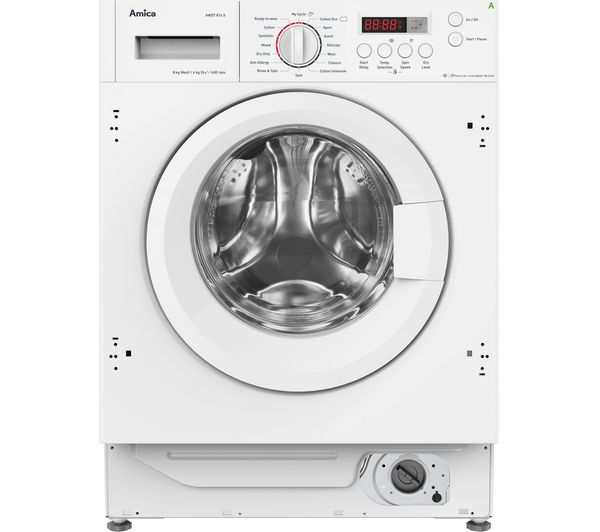 Image of AMICA AWDT814S Integrated 8 kg Washer Dryer