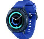 SAMSUNG Gear Sport - Blue, Silicone Strap