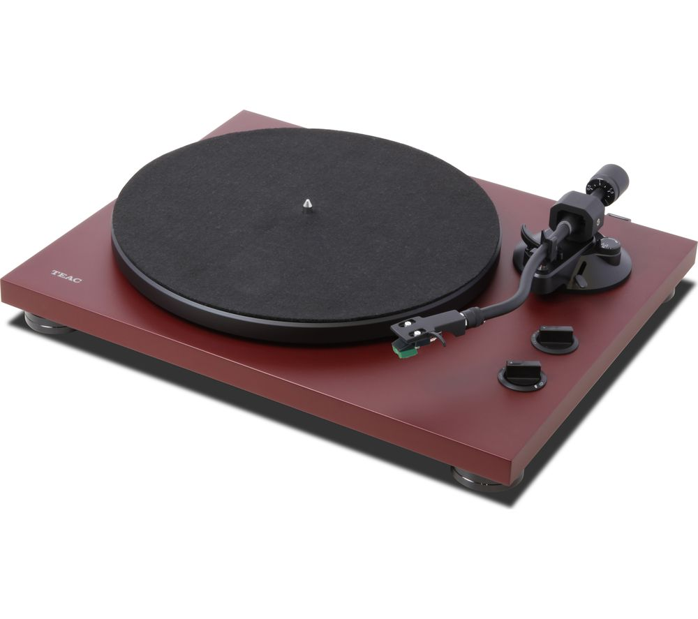 TEAC TN-400BT Bluetooth Turntable - Red, Red