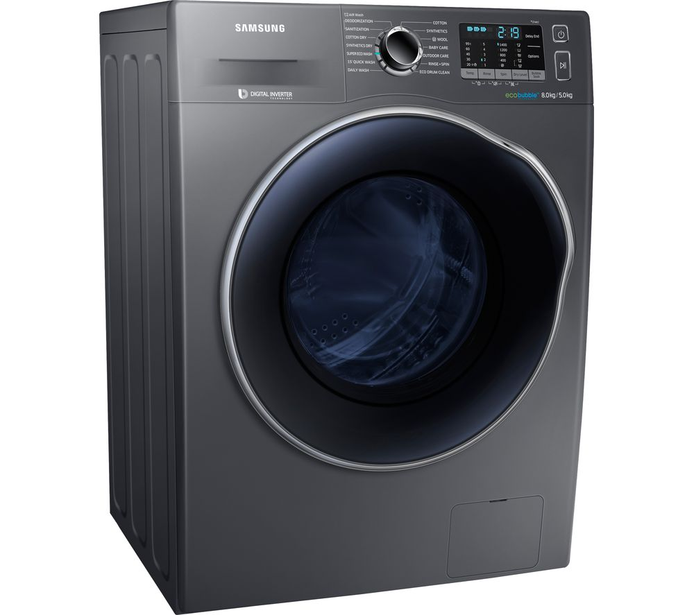 SAMSUNG ecobubble WD80J5A10AX 8 kg Washer Dryer - Graphite