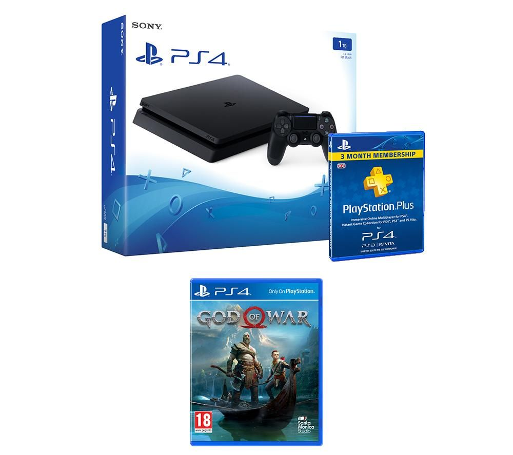 PlayStation 4 Slim, God Of War & PlayStation Plus 3 Month Subscription Bundle