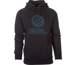 ESL Stitched Hoodie - Large, Black & Blue
