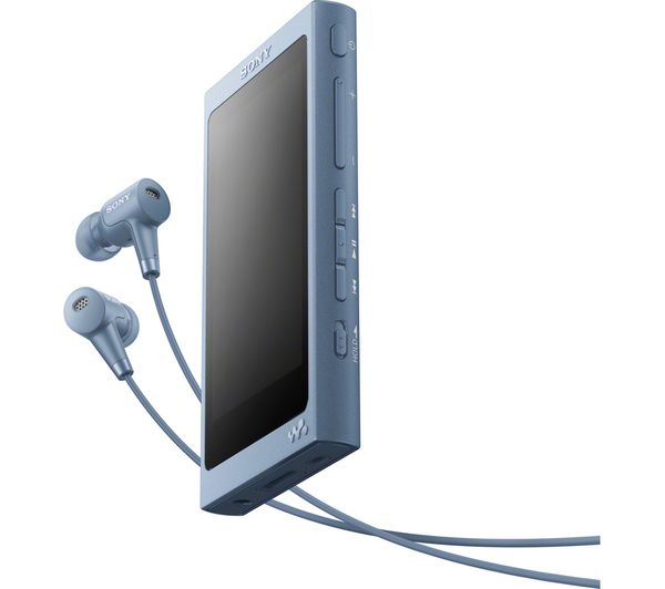 Image of SONY Walkman NW-A45HN Touchscreen MP3 Player with Noise-Cancelling Headphones - 16 GB, Blue
