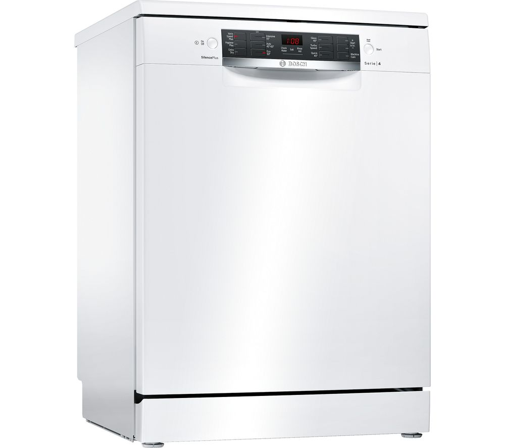 BOSCH Serie 4 SMS46IW08G Full-size Dishwasher - White, White