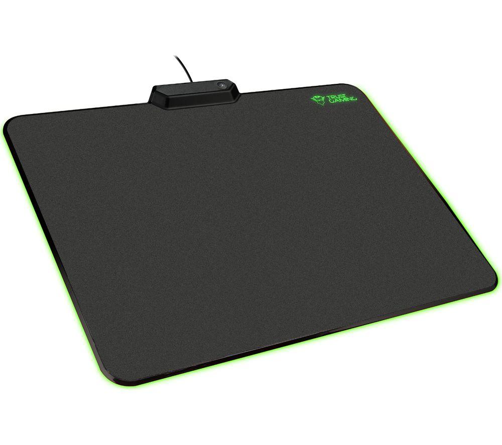 TRUST GXT 760 Glide RGB Mouse Mat - Black
