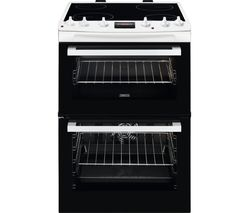 ZANUSSI ZCV66250WA 60 cm Electric Cooker - Black & White Best Price, Cheapest Prices
