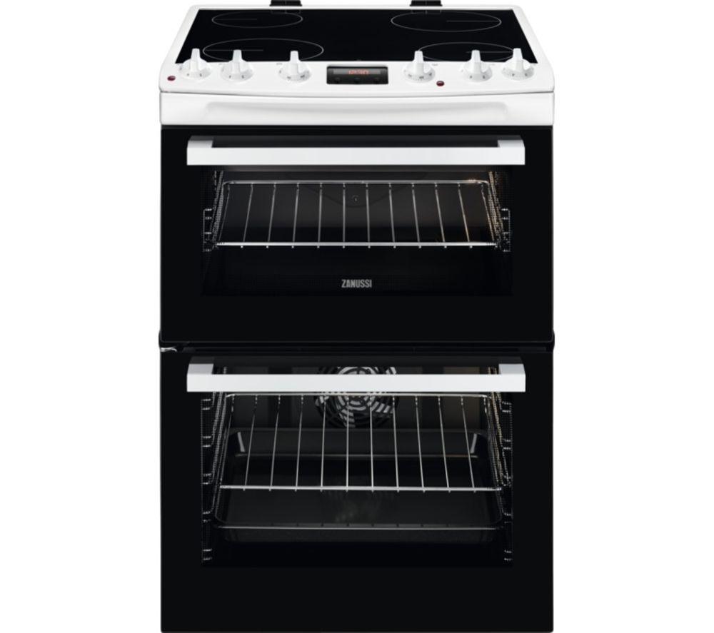 ZANUSSI ZCV66250WA 60 cm Electric Cooker - Black & White