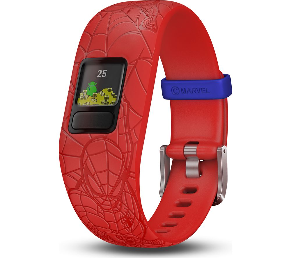 GARMIN vivofit jr. 2 Kid's Activity Tracker - Red Spider-Man, Adjustable Band