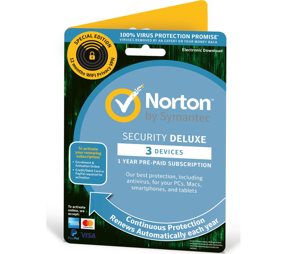 Buy NORTON Security 2019 for 3 devices & Wi-Fi Privacy 2019