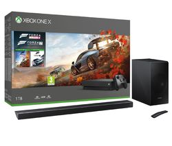 MICROSOFT Xbox One X, HW-N650 5.1 Wireless Sound Bar, Forza Horizon 4 & Forza Motorsport 7 Bundle